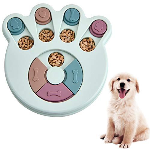 Juguete de Puzle para Perro Juguete para Perros Alimentador Lento dispensador de premios para perros Interactivo Rompecabezas para Perro Antideslizante Alimentador de Juguete para Perros Mejora el IQ
