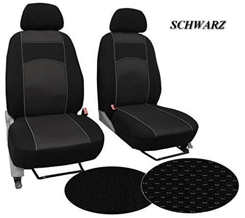 POK-TER-BUS Maßgefertigter Sitzbezug, Modellspezifischer Sitzbezug Fahrersitz + Beifahrersitz Für T5 MULTIVAN. Super Qualität, STOFFART VIP. in Diesem Angebot Schwarz (Muster im Foto).