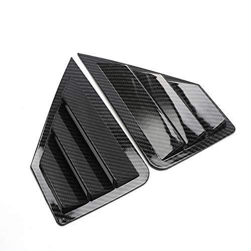 YUZHONGTIAN Lot de 2 volets arrière triangulaires en plastique ABS style fibre de carbone pour C-HR 2016–2019 Accessoire de voiture