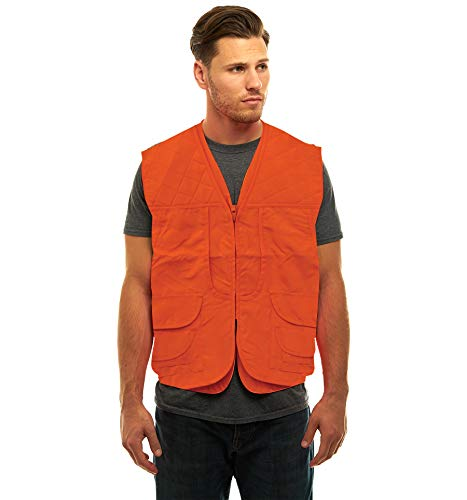 TrailCrest Mens Blaze Orange Safety Front Loader Vest (XL)