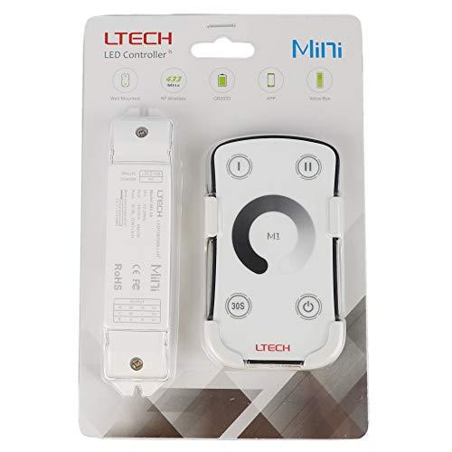 LTRGBW M1 LED Controller Dimmer SMD 5050 3528 einfarbige LED-Streifen-Band-Beleuchtung dimmen (5 Jahre Garantie)