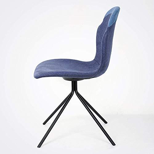 HYY-YY Silla de comedor, sillas de comedor, encimeras de cocina, silla de ocio, silla de comedor, moderna, sencilla, informal, silla nórdica, de montaje sencillo (color: azul, tamaño: 55 x 46 x 82 cm)
