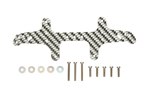HG Carbon Rear Multi Roller Stay (Silver/3mm) (Mini 4WD) (japan import)