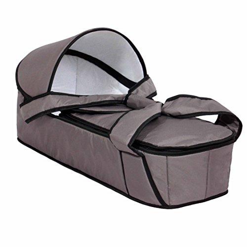 Zekiwa Tragenest für vielfältige Verwendungen, mit Reißverschluß zum Deckel öffnen, Ausstattung mit abnehmbarem Verdeck, für mehrere Kinderwagen nutzbar, Dessin: Sand
