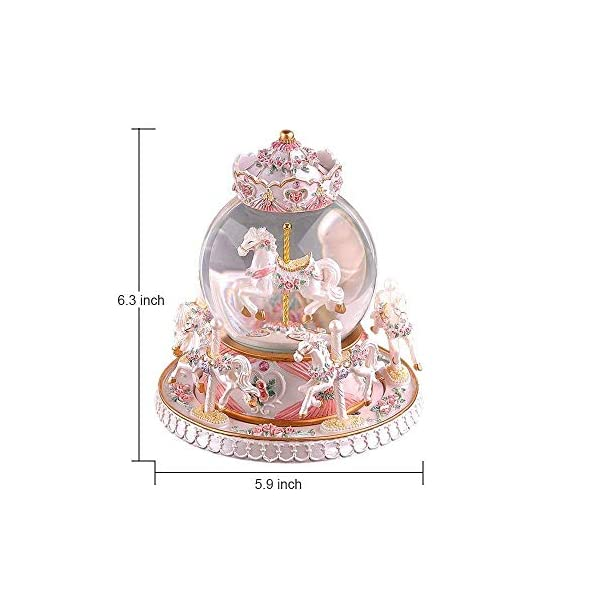 Luxury Carousel Music Box Crystal Ball Music Box with Castle in the Sky Tune Creative Home Decor Ornament Gifts Perfect… 5