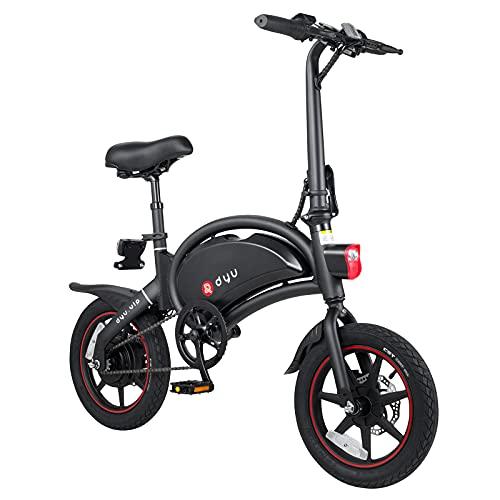 DYU D3+ 14 Pollici Smart Bici Elettrica,Portatile Pieghevole Bicicletta Elettrica per Adulto, [Upgrade Version] 40km Chilometraggio 250W 25km h 36V 10Ah Bici Pedalata Assistita per Donne