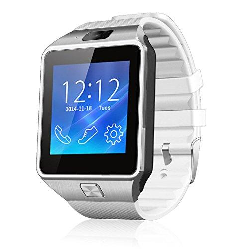 Netspower diseño DZ09 Bluetooth Reloj Inteligente Pulsera del Abrigo Reloj teléfono para Smartphone Android Samsung S3 / S4 / S5 Nota 2 / Nota 3 Nota 4, HTC, Sony (DZ09 Blanco)