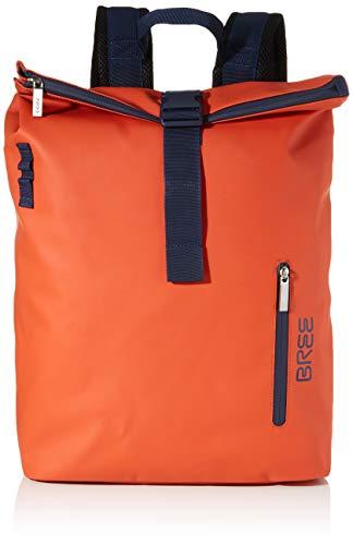 BREE Unisex-Erwachsene Punch 712, Backpack S W19 Rucksack, Orange (Pumpkin), 15x42x34 cm