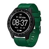 Yves25tate Smartwatch, 1,54 Zoll Touch-Farbdisplay Fitness Armbanduhr Mit Pulsuhr Fitness Tracker IP68 Wasserdicht Sportuhr Smartwatch Mit Schrittzähler, Schlafmonitor, Stoppuhr Für Damen Herren