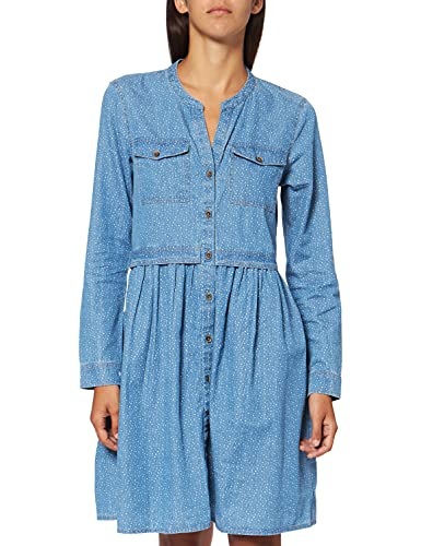 edc by Esprit 010cc1e301 Vestido, Azul (Blue Light Wash 903), Large para Mujer