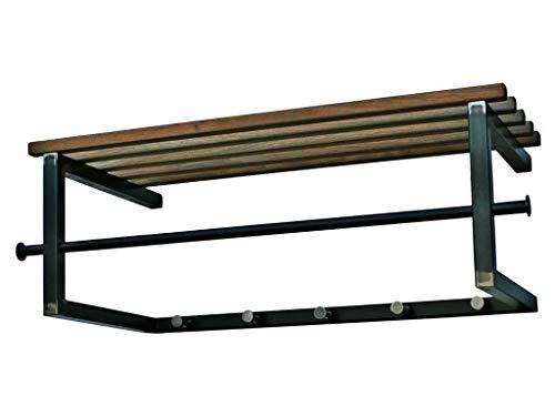 Matches XS Wandgarderobe // Garderobe 7 Haken Spinder Design Schwarz 80x75x10 cm