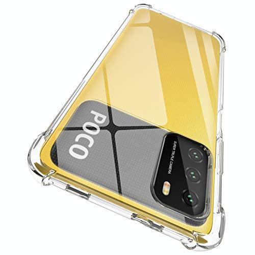 ORNARTO Hülle für Poco M3, Transparent Soft TPU Silikon Handyhülle Vier Ecke Kante Stoßdämpfung Design Kratzfest Durchsichtige Schutzhülle für Xiaomi Poco M3(2020) 6,53 Zoll Klar