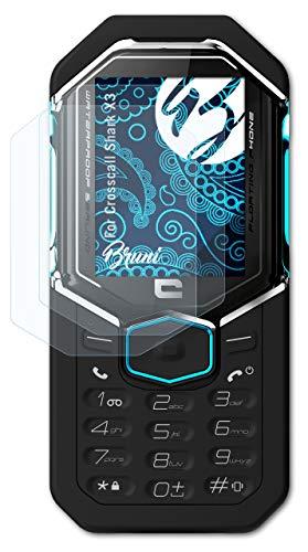Bruni Schutzfolie kompatibel mit Crosscall Shark X3 Folie, glasklare Bildschirmschutzfolie (2X)