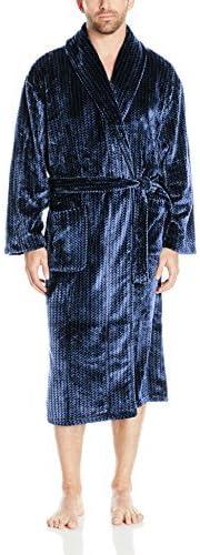 Majestic International Men's Metro Marled Plush Fleece Shawl Robe