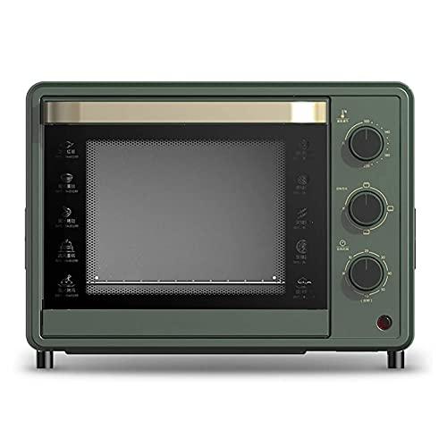 UOOD Horno doméstico Horneado Pequeño Horno eléctrico Control de Temperatura preciso Multifuncional Cake automático 32L Gran Capacidad