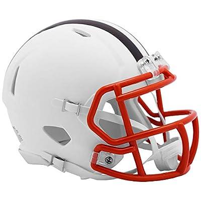 Riddell Cleveland Browns White Flat Matte Alternate Speed Mini Football Helmet