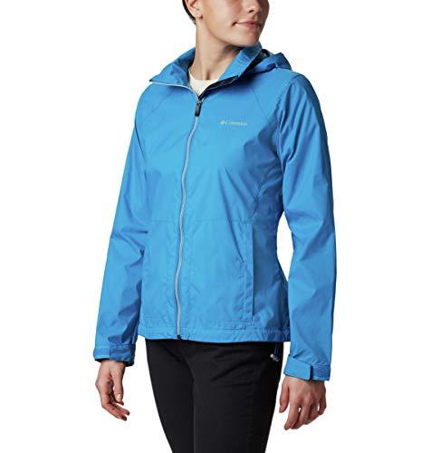Columbia Women's Switchback III Adjustable Waterproof Rain Jacket, fathom blue, X-Large