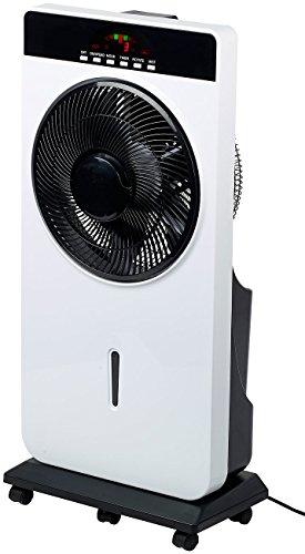 Sichler Haushaltsgeräte Wasserventilator: Sprühnebel-Standventilator, Anti-Insekten, MP3-Player, 90 W, Ø 30 cm (Ventilator Sprühnebel)