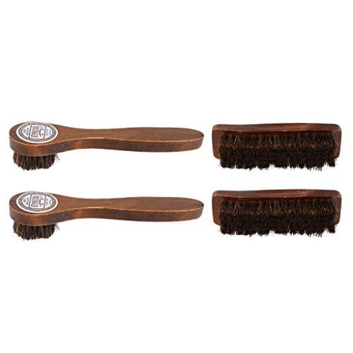 oshhni 4X Kit de Limpiador de Zapatos Portátil Trave Limpiador de Polvo Cepillo Cuidado de Zapatos