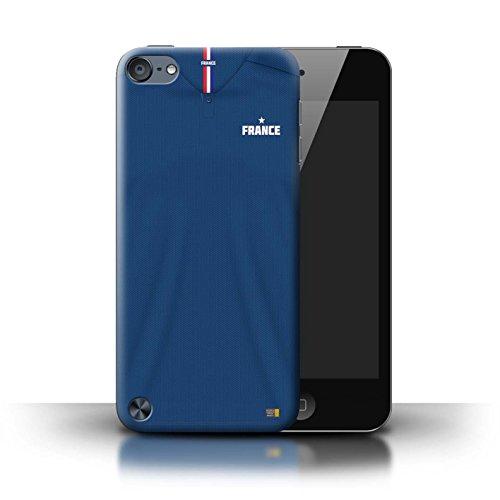 Stuff4 Custodia/Cover/Caso/Cassa Rigide/Prottetiva Stampata con Il Disegno Coppa Mondo 2018 Maglietta Calcio per Apple iPod Touch 5 - Francia/Francese
