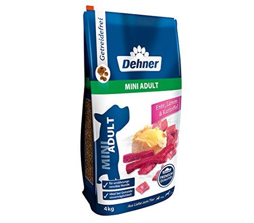 Dehner Premium Hundetrockenfutter Mini Adult, Ente und Lamm mit Kartoffel, 4 kg