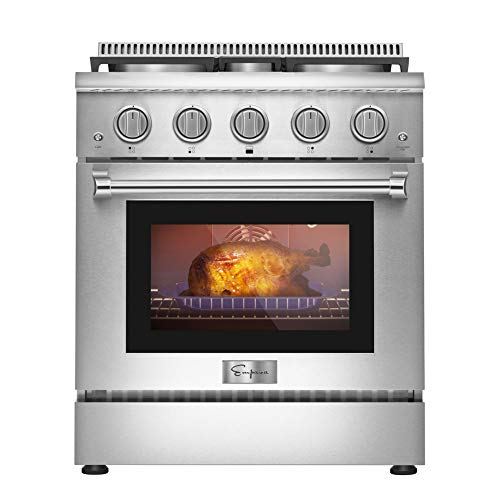 in budget affordable Empaba 30 inches 4.2cc feet. Plug-in gas stove Pro-style oven with 4 sealed ultra-high and low …