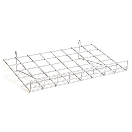 Flat Grid Shelf in White 24 W Recommended X of Box Inches 5 D - outlet 15