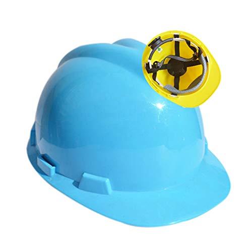 WXJ Estándar Internacional Casco de Seguridad con Ranuras En V ABS Protección...
