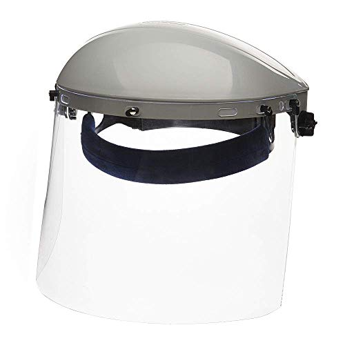 Sellstrom S30120 Advantage Series All-Purpose Face Shield, Clear Polycarbonate Shield, Ratchet...