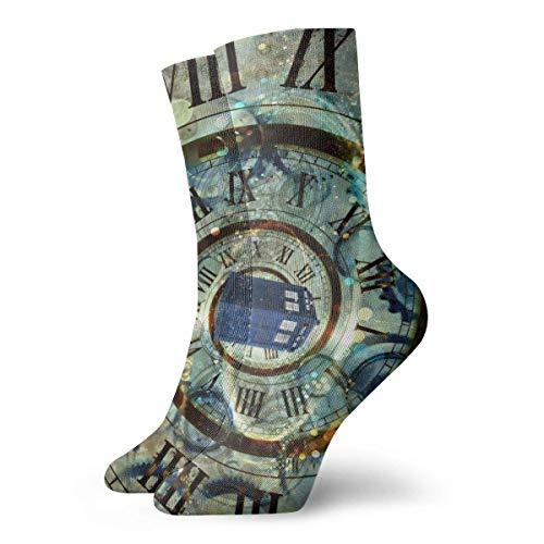 Doctor Doctor Who Police Fashion kurze Socken weiche wärmende Strümpfe für Damen Herren Sportsocken 30 cm