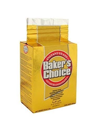Baker's Choice Gold Instant Yeast, Baking Cake, Bread and Dough, 1 Pound (1 Pack)