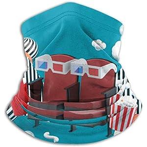 Mikrofaser-Halswärmer, Ohrenwärmer, Kopfband, Gesichtsbezug, Kinostuhl, Softdrinks, Popcorn
