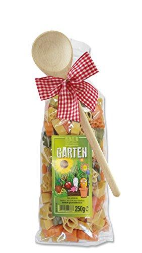 Pasta Präsent Gärtner mit bunten Nudeln handgefertigt in deutscher Manufaktur