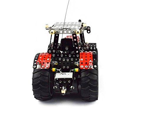 RC Auto kaufen Traktor Bild 5: Tronico 10084 - Metallbaukasten Traktor Massey Ferguson MF-8690 mit Fernsteuerung, Profi Serie, Maßstab 1:16, 726-teilig, rot*