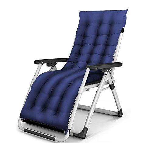 Ligstoel voor in de tuin, comfortabel en gewichtloos, terras, opvouwbaar, verstelbaar, voor buiten, kantoor, strand, met kussen, ondersteuning van 200 kg, lichte campingstoel
