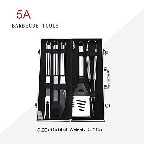 Great Features Of M3M BBQ Tools 26 Pieces Set, Outdoor Stainless Steel Baking Utensils, Grilled Fork Oven Grilling Net, Fork Shovel Clip Set, Family Friends Camping BBQ Tools,5A
