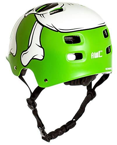 AWE® MEET YOUR MAKERTM BMX Helm Grün 55-58cm FREIES 5 JAHR CRASH ERSATZ * - 5