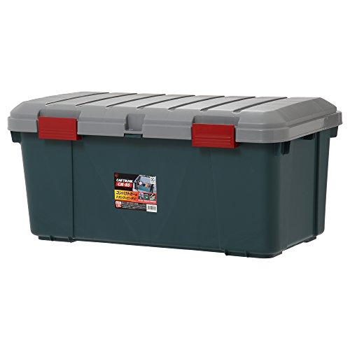 アイリスオーヤマ 収納 BOX 850×450×390 カートランク CK-85 グレー/ダークグリーン