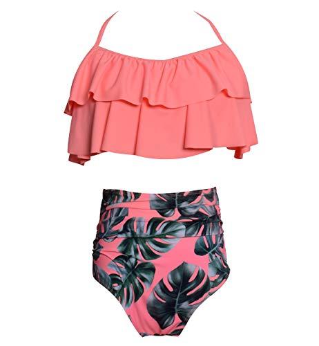 Bikini Talle Alto Cuello Halter Conjunto Bikinis con Relleno Mujer Niña Bañador Bandeau Push Up Dos Piezas Natacion Trajes de Baño Mujer Bañadores Señora Playa Trikini Biquini Cintura Alta Chica XL