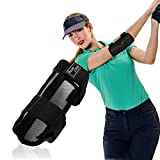 Dioche Golf Swing Trainer, Straight Practice Golf Swing Trainer Elbow Brace Alarm Swing Correcting Tool for Golf Posture Correction