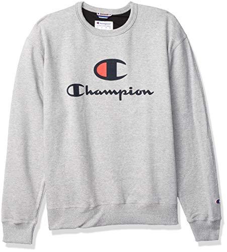 Champion Powerblend Sudadera, Oxford Gris-586222, XL para Hombre