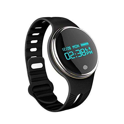 Winnes Wasserdichte Sport Fitness Tracker Smartwatch, Bluetooth Smart Wristband Gesundheit Aktivität Fitness Tracker Gesunde Pedometer Schlaf Monitor für Android und IOS E07 (Schwarz)