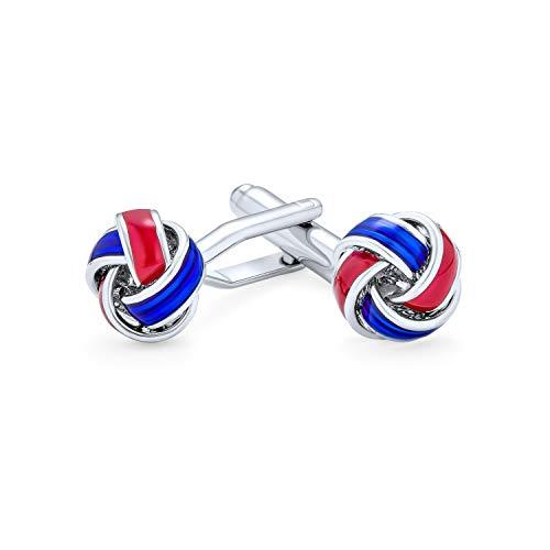 Twist Seil Geflecht Amerikanischen Usa Patriotischen Rot Weiß Blau Knoten Shirt Manschettenknöpfe Für Männer Scharnier Zurück Edelstahl
