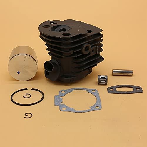 Juego de juntas de colector de admisión de cojinete de pistón de culata de cilindro de 45 mm para Husqvarna 55 51 50 Piezas de motor de motosierra Placa Nikasil