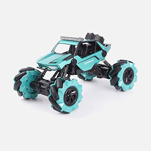 Lihgfw Allradantrieb Geste Induktion Klettern Auto Fernbedienung Offroad Fahrzeug Spielzeug Rennkind Lade Mobile Auto Griffuhr Dual Control (Color : Cyan, Größe : 1 Battery)