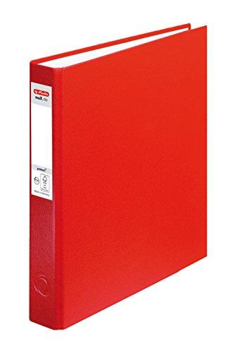 Herlitz Ringbuch maX.file pRotect A5, 1 Stück, 2-Ring-Kombi-Mechanik, 25 mm Füllhöhe, rot