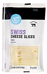 Amazon Brand - Happy Belly Sliced Swiss Cheese, 10 Slices, 8 Ounce