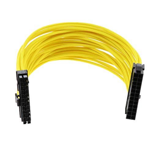 P Prettyia Fuente de Alimentación de 24 Pines Cable de Extensión ATX...