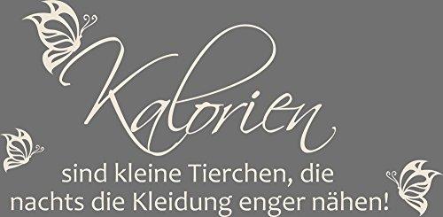 GRAZDesign 620532_57_816 Wandtattoo für Küche   Wand-Spruch über Kalorien   Küchen-Tattoos für Deine Küchen-Wände und Schränke   Für Esszimmer (116x57cm // 816 Antique White)