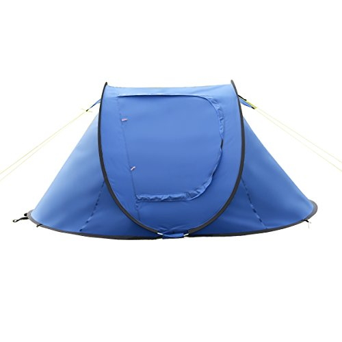 Tangkula 2-3 Person Camping Tent Waterproof Outdoor Sports Hiking Tavel Automatic Pop Up Quick Shelter Tent